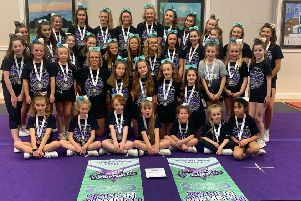The junior cheer level one team and senior cheer level one team both won first place at BCA FUNdamentals 2020