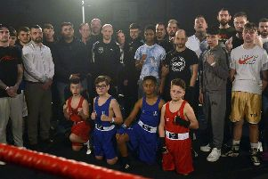 Some of the boxers who took part in the event