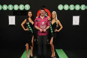 Daryl Gurney after his win at the World Grand Prix in Dublin in October 2017