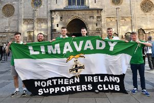 Northern Ireland Fans  in Vienna, ahead of Northern Ireland's  UEFA Nations League match against Austria on Friday evening.'Photo Colm Lenaghan/Pacemaker Press
