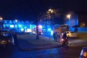 The attack occurred in the Galliagh Park area of the city.
