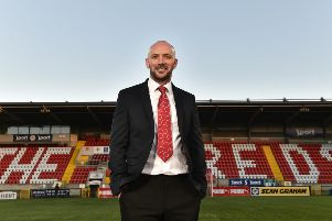 Paddy McLaughlin is unveiled as the new Cliftonville FC manager. Photo Colm Lenaghan/Pacemaker Press