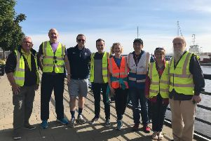 Derry parkrun stlwart, George Row (extreme right) with some of his fellow Parkrun volunteers.