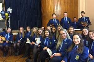 Students who led the music and singing at the Loreto College Year 14 Leavers' Mass.