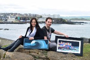 Portstewart based artists husband and wife team Evana Bjourson and Adrian Margey