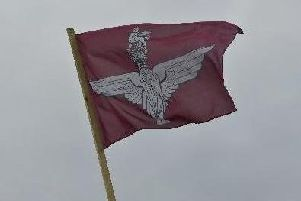 A Parachute Regiment flag (archive pic)