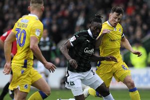Reported Plymouth striker Freddie Ladapo Picture: Alex Burstow/Getty Images