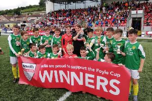 Donegal School Boys winners of the O'Neills Foyle Cup U12 section.
