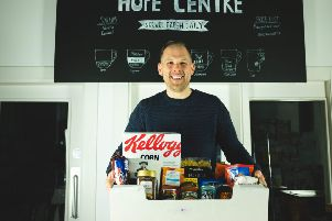 Pictured at the Hope Centre on 40 Duke Street in Derry is John Loughery, a member of the leadership team at Cornerstone City Church.