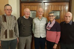 Liam Harbison, speaker at the November meeting of Towards Understanding and Healing with members of the committee. Liam  spoke to a full house on the topic of Zimbabwe then and now.