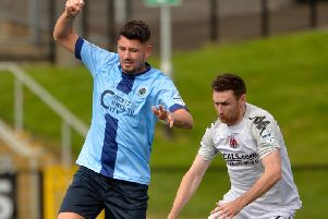 Institute's Joe McCready netted from the penalty spot in the first half at the Showgrounds.