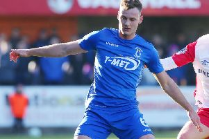 Dungannon Swifts' skipper Seanan Clucas was one of three players red carded after the final whistle against Institute, on Saturday.