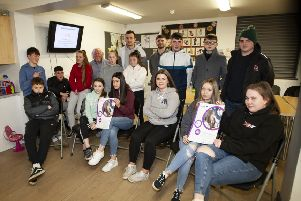 Young people from Clooney and Eglinton who took part in the Peace IV 'Rebels, Radicals, Loyalist and Royalists'  workshop at Clooney Community Centre (Photo: Jim McCafferty Photography)