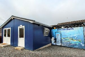 Leafair men's shed building  and the generator reimaging mural