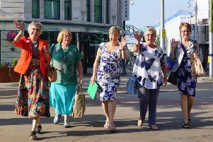 Happy trippers in the Welsh sunshine