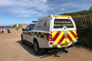 The Coastguard responded to the incident at Anderby Creek on Saturday.