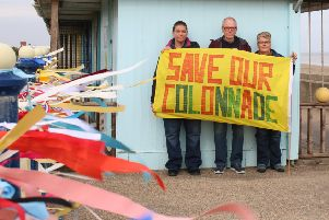 Campaigners Helen Louth, Terry Wellard and Rebecca Dale are just three of the owners trying to save their private beach huts as well as safeguarding the colonnade for future generations.