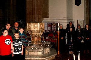 St James's Church in Louth was lit by candle light on Monday and was a place for people to come and remember the babies they have lost.