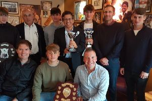 Louth Taverners show off their array of team and individual trophies EMN-180811-111259002