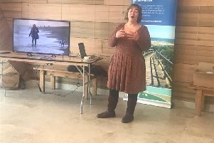 Mary Powell, tourism manager at Lincolnshire County Council, introducing the new Natural Coast marketing tools.