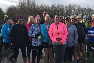 Mablethorpe Runners helped Janine Stones celebrate her birthday at the Cleethorpes parkrun EMN-190325-171620002