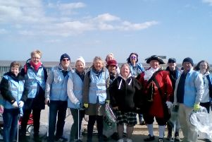 Lianne thanked everyone who took part in the beach clean on March 24.