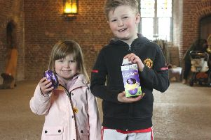 Cadbury's egg hunt at Tattershall Castle EMN-190415-122017001