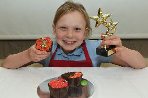 Nancy Baker 9 winner of junior decorated cup cake and overall winner.