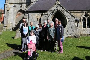 Water effort! Improvements are to be made at St Helen's Church, Stickford, following a joint fundraiser.