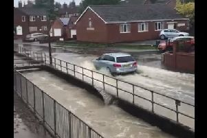 A still taken from a video in Horncastle captured by Sarah Bouskill PT.