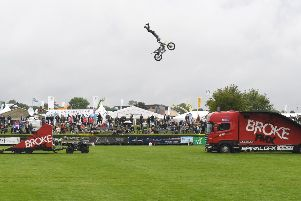 A motorcycle display team wowed crowds at Lincolnshire Show. EMN-190620-091311001