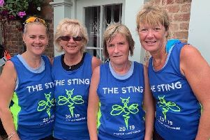 Andrea Mettam, Debbie Jinks, Elaine Wilson and Sharon Margarson at the Sting in the Tail 10k EMN-191107-114357002