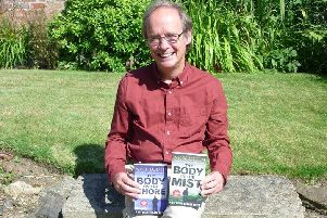 Nick Louth with the two thriller novels. DKl4v_YQYJ7cs_P2b7db