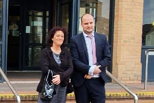 Ark manager Sue Rice and solicitor Joe Pepper.