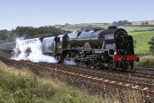 The 'Royal Scot' steam train, one of the world's most famous steam locomotives which �was rescued from the scrapyard in 1962 by Skegness holiday camp magnate Sir Billy Butlin. is to roll into Skegness Railway Station on��Saturday, September 26.