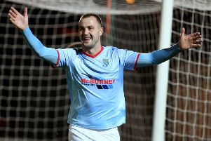 Kyle Owens netted Ballymena's third goal as they came back to defeat third placed, Glenavon at Warden Street.