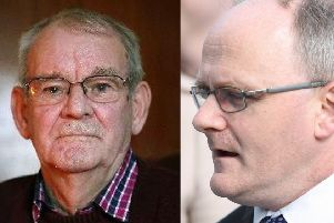 Kingsmill survivor Alan Black (left) and Sinn Fein MP Barry McElduff