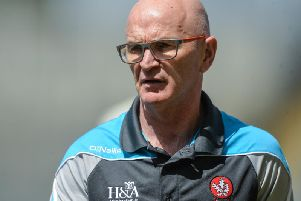 DISAPPOINTMENT . . .Derry manager Collie McGurk