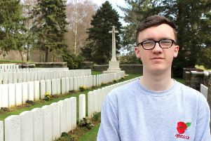 A poignant visit to the WW1 battlefields for Lurgan cadet