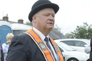 David Simpson MP at an Orange parade in July 2017