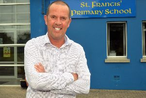 Anthony McMorrow, principal of St Francis' Primary School who is retiring at the end of term. INLM25-203.