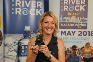 Natalie from Portadown (Craigavon Lakers AC) made history as the first ever female pacer for the Belfast City Marathon and will be pacing a 2:15 finish time at the 6th Deep RiverRock Belfast City Half Marathon on 23rd September. �Press Eye/Darren Kidd