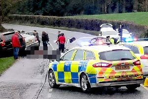 The scene of a double fatal accident on main road between Dungannon and Moy on Sunday. Picture: John McVitty/McAuley Multimedia