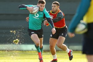 Jacob Stockdale and Adam Byrne