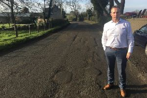 DUP representative Mr Lavelle McIlwrath on the Mullahead Road