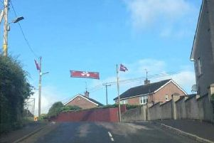 'Soldier F' banner in Gilford, Co Down