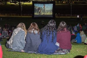 Outdoor cinema event taking place at Tannaghmore Gardens this Friday, September 27