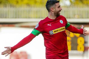 Joe Gormley following his weekend hat-trick for Cliftonville. Pic by INPHO.