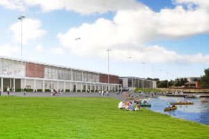 A perspective on the new South Lakes Leisure Centre