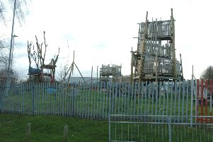 Adventure playground in Haddon Road, Hart Hill